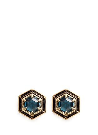 Main View - Click To Enlarge - Lulu Frost - 'Nicandra' glass crystal stud earrings