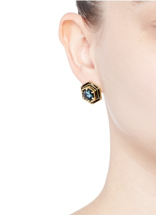 Figure View - Click To Enlarge - Lulu Frost - 'Nicandra' glass crystal stud earrings