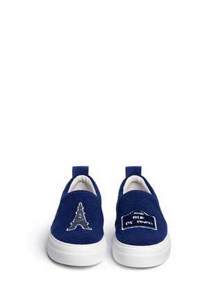 Figure View - Click To Enlarge - Joshua Sanders - 'Paris' appliqué felt skate slip-ons