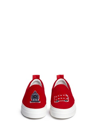 Figure View - Click To Enlarge - Joshua Sanders - 'London' appliqué leather flatform skate slip-ons