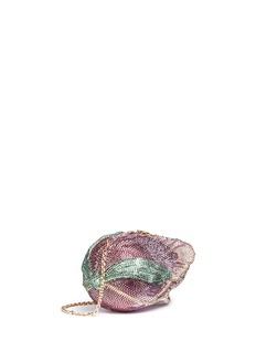 JUDITH LEIBER'Angelique Tulip' crystal pavé minaudière