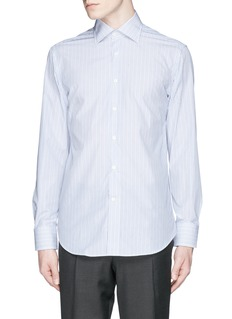 CANALI Stripe cotton poplin shirt