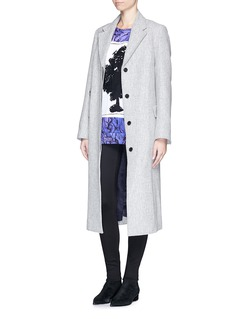 COCURATA'Enchantment Patch' embroidery cotton sweatshirt