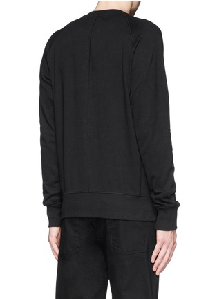 Back View - Click To Enlarge - Den Im By Siki Im - Contrast irregular shape print cotton sweatshirt