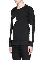 Contrast irregular shape print cotton sweatshirt