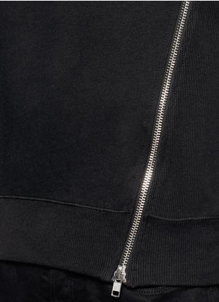 Detail View - Click To Enlarge - SIKI IM / DEN IM - Asymmetric zip ribbed side sweatshirt