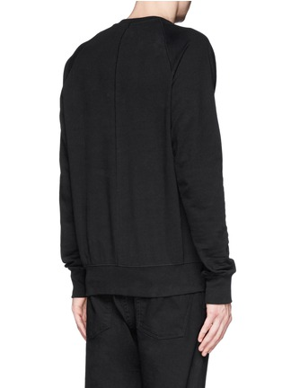 Back View - Click To Enlarge - Den Im By Siki Im - Asymmetric zip ribbed side sweatshirt