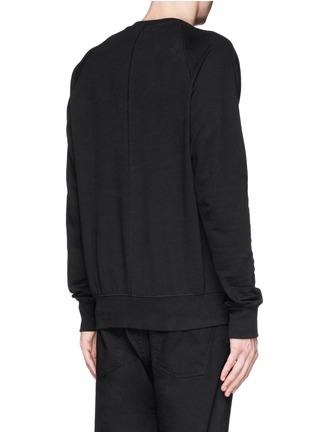 Back View - Click To Enlarge - SIKI IM / DEN IM - Asymmetric zip ribbed side sweatshirt