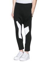Off-centre drawstring contrast print jogging pants
