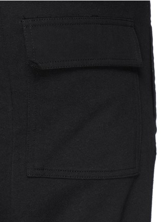 Detail View - Click To Enlarge - SIKI IM / DEN IM - Off-centre drawstring drop crotch shorts