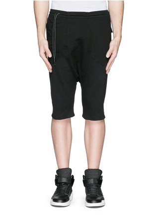 Main View - Click To Enlarge - SIKI IM / DEN IM - Off-centre drawstring drop crotch shorts