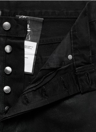 Detail View - Click To Enlarge - Den Im By Siki Im - 'Peg' sheen denim cropped jeans