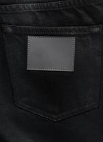'Peg' sheen denim cropped jeans
