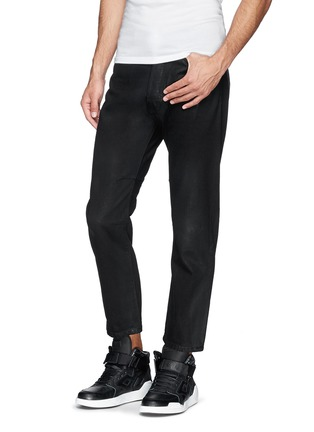 Figure View - Click To Enlarge - Den Im By Siki Im - 'Peg' sheen denim cropped jeans