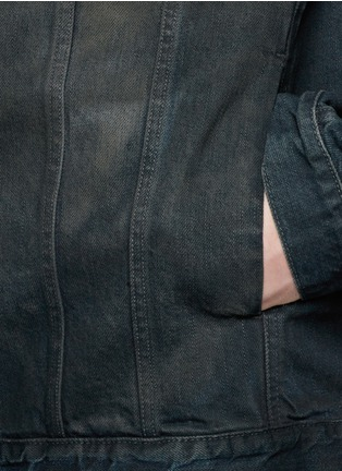 Detail View - Click To Enlarge - Den Im By Siki Im - Dye cotton selvedge denim jacket