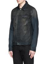 Dye cotton selvedge denim jacket