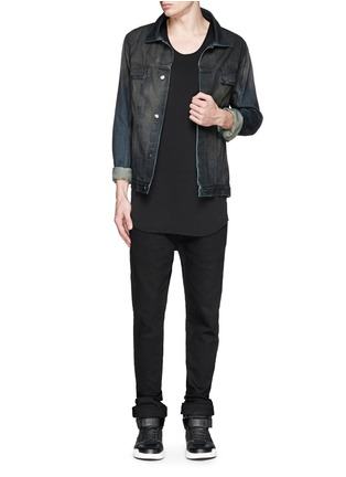 Figure View - Click To Enlarge - Den Im By Siki Im - Dye cotton selvedge denim jacket