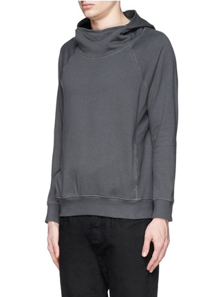 Front View - Click To Enlarge - Den Im By Siki Im - Mock funnel neck cotton hoodie