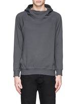 Mock funnel neck cotton hoodie