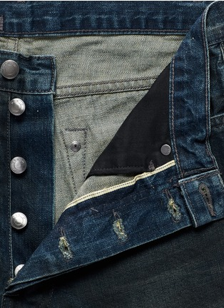 Detail View - Click To Enlarge - Den Im By Siki Im - 'Peg' gradient wash denim cropped jeans