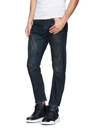Figure View - Click To Enlarge - Den Im By Siki Im - 'Peg' gradient wash denim cropped jeans