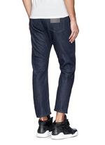 'Peg' contrast print selvedge jeans