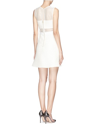 Back View - Click To Enlarge - self-portrait - 'White Reflections' arrow embellished bandeau dress