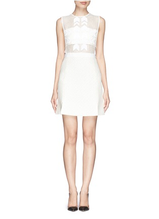 Main View - Click To Enlarge - self-portrait - 'White Reflections' arrow embellished bandeau dress