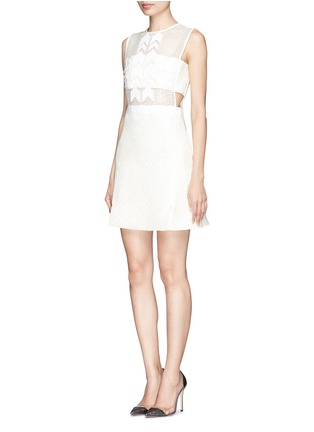Figure View - Click To Enlarge - self-portrait - 'White Reflections' arrow embellished bandeau dress