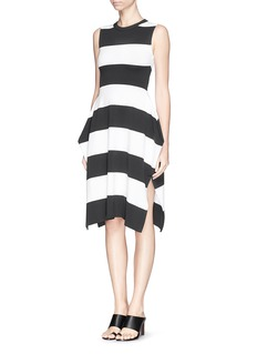 STELLA MCCARTNEY Geometric stripe punto knit dress