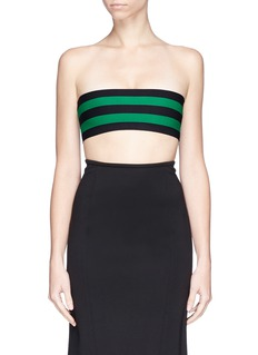 STELLA MCCARTNEY Stripe punto knit bandeau