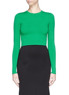 STELLA MCCARTNEY Open back punto knit cropped top