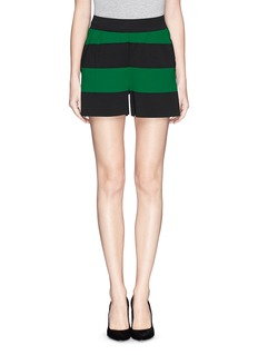 STELLA MCCARTNEY Oversize stripe knit shorts