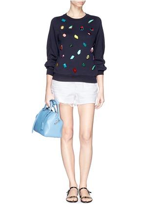 模特儿示范图 - 点击放大 - STELLA MCCARTNEY - Gemstone appliqué sweatshirt