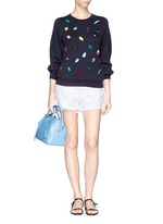 Gemstone appliqué sweatshirt