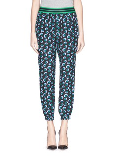 STELLA MCCARTNEY Blossom print elastic silk jogging pants