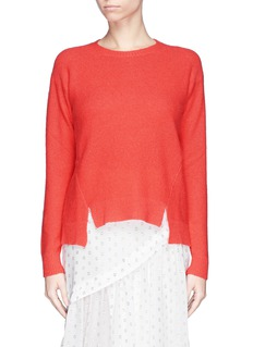 STELLA MCCARTNEY Open back cashmere-silk sweater