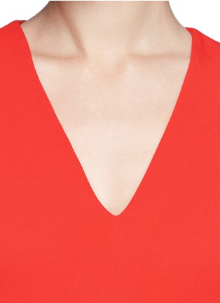 Detail View - Click To Enlarge - Stella McCartney - Ruffle hem cady crepe dress
