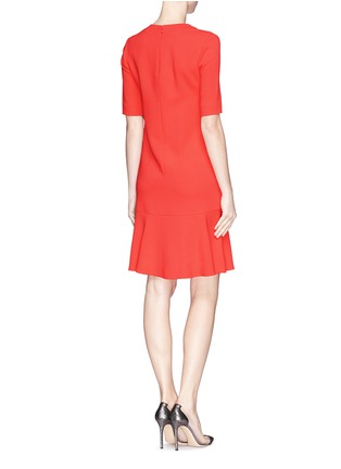 Back View - Click To Enlarge - Stella McCartney - Ruffle hem cady crepe dress