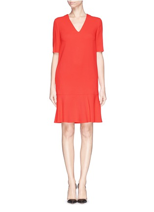Main View - Click To Enlarge - Stella McCartney - Ruffle hem cady crepe dress