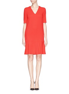 STELLA MCCARTNEY Ruffle hem cady crepe dress