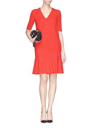 Figure View - Click To Enlarge - Stella McCartney - Ruffle hem cady crepe dress