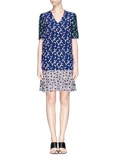 STELLA MCCARTNEY Ruffle hem silk dress