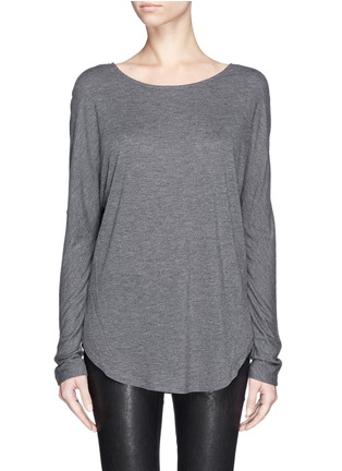 Main View - Click To Enlarge - Vince - Silk back jersey T-shirt