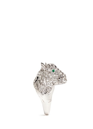 Detail View - Click To Enlarge - Kenneth Jay Lane - Crystal pavé horse head ring
