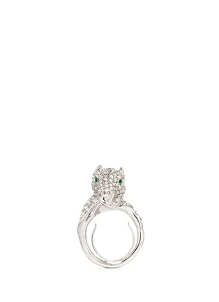 Main View - Click To Enlarge - Kenneth Jay Lane - Crystal pavé horse head ring