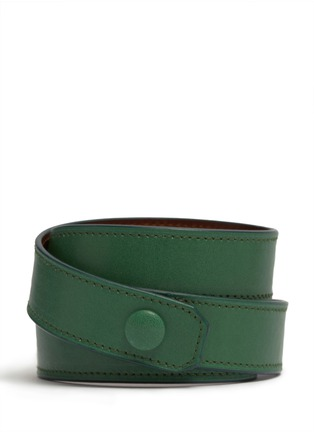 Back View - Click To Enlarge - Givenchy - Obsedia wrapped leather bracelet