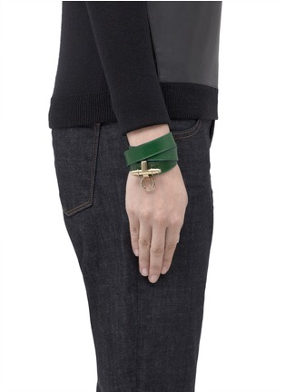 Figure View - Click To Enlarge - Givenchy - Obsedia wrapped leather bracelet