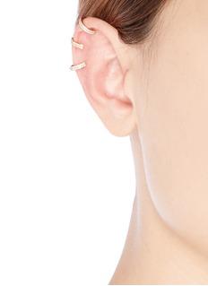 REPOSSI 'Berbère' diamond rose gold 3-hoop ear cuff