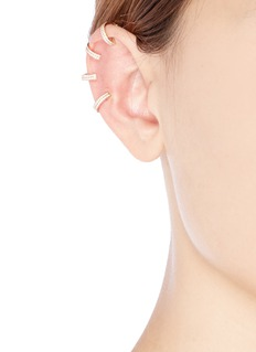 REPOSSI 'Berbère' diamond rose gold 4-hoop ear cuff
